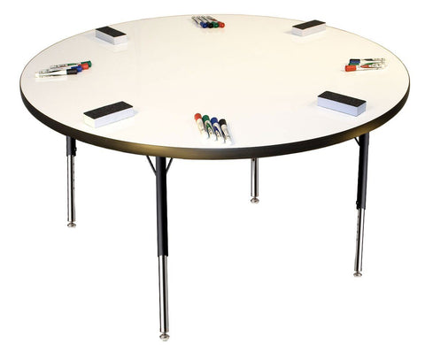 "Circle Dry Erase Table 48"" Round - louisekool"