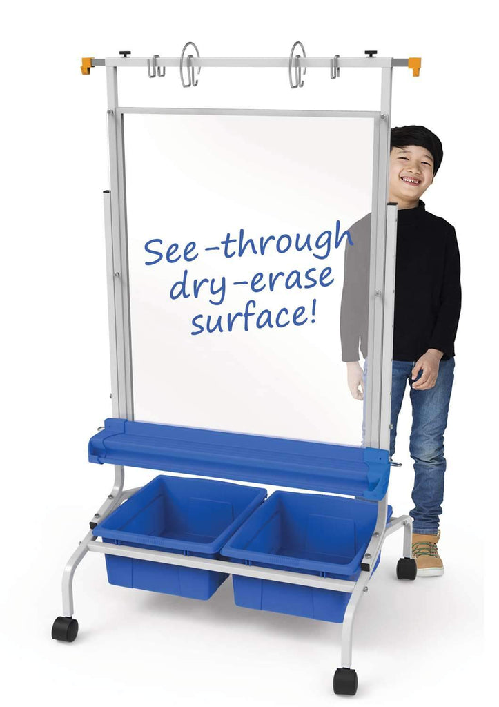 Clear Dry-Erase Chart Stand - louisekool