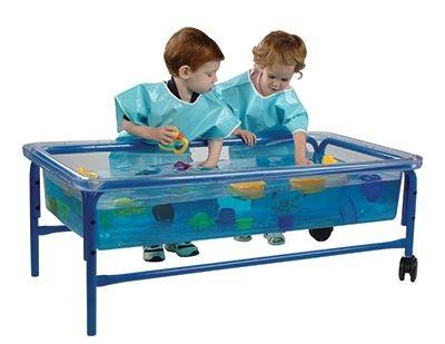 Clear-View Sand & Water Toddler Table with Frameworks - louisekool