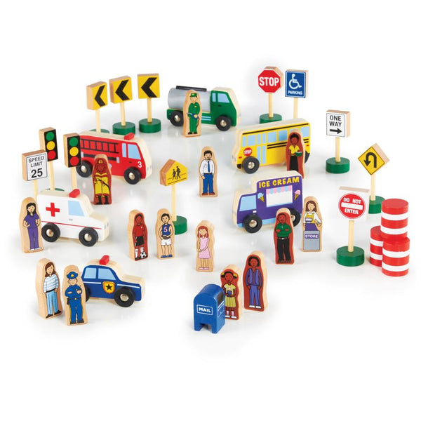 Community and Roadway Essentials - 36 Pieces - louisekool
