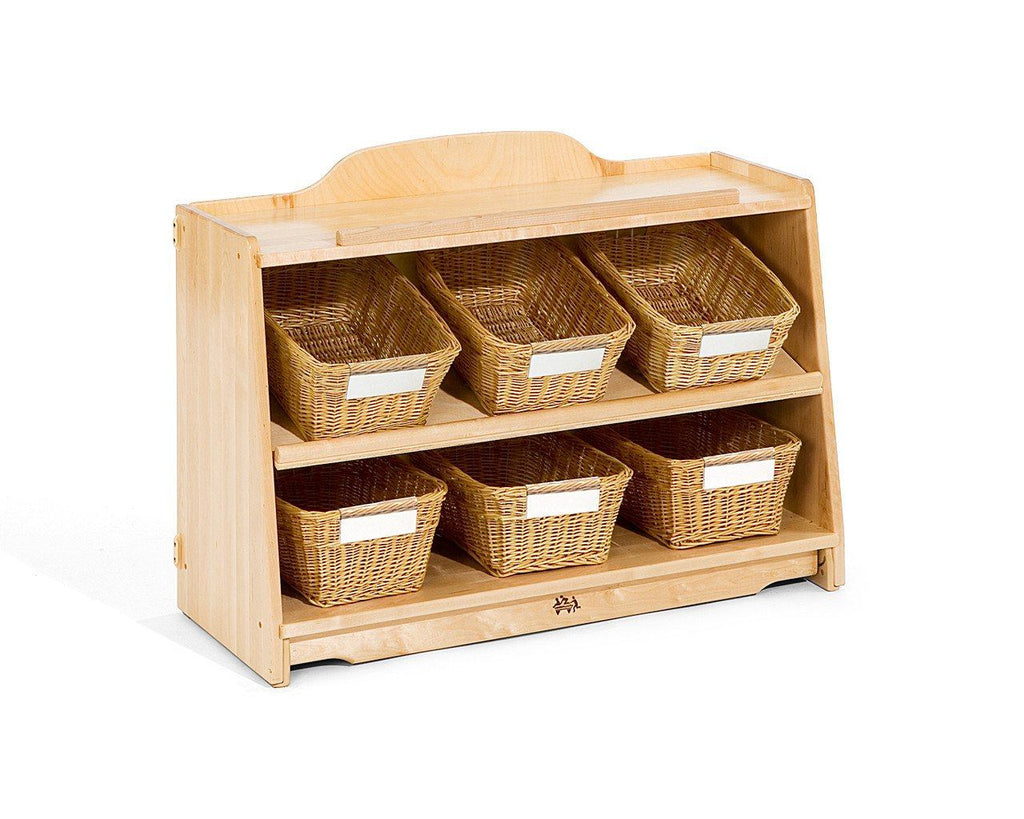 Craft shelf 3 to fit 6 totes or baskets - louisekool