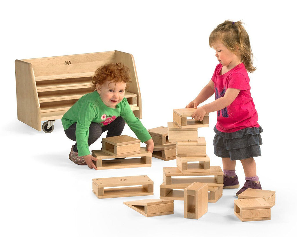 Community Playthings Mini Hollow Blocks, and Cart - louisekool