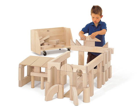 Unit Block Introductory Set and Cart by Community Playthings - louisekool