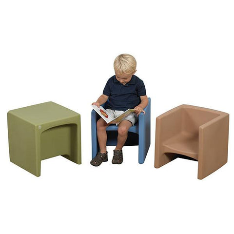 Cozy Woodland Earth Tone Cube Chairs - louisekool