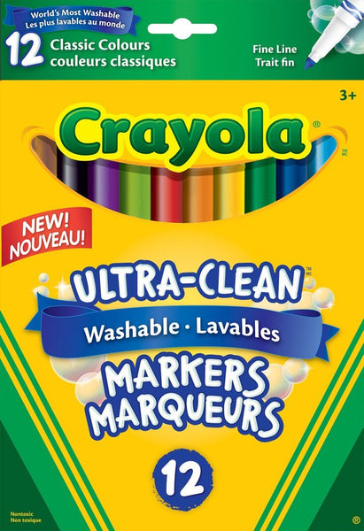Crayola® Ultra-Clean Washable Fine Line Markers - louisekool