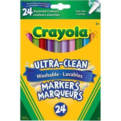 Crayola® Ultra-Clean Washable Fine Line Markers - Set of 24 - louisekool