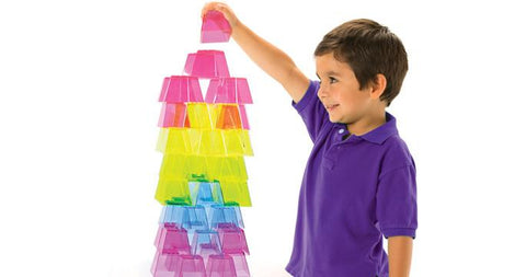 Crystal Colour Stacking Blocks - 50 Pieces - louisekool