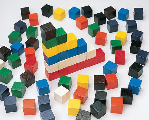 Cubical Counting Blocks - Set of 100 - louisekool