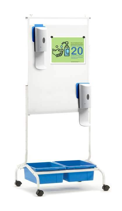Deluxe Chart Stand Sanitizer Station - Dispenser included - louisekool
