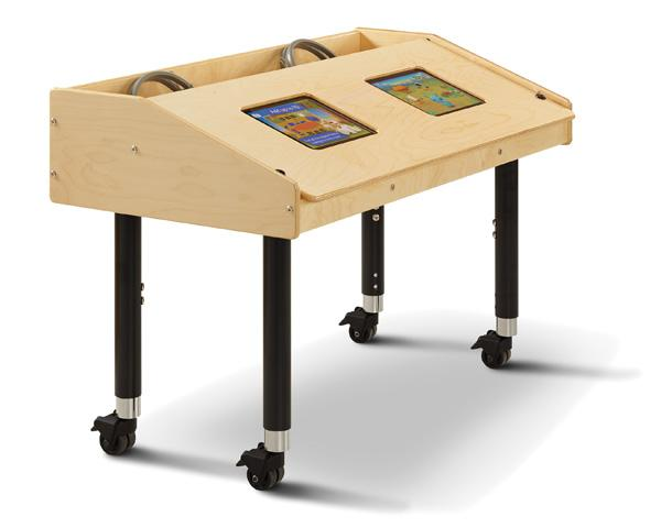 Dual Mobile Tablet Table - louisekool
