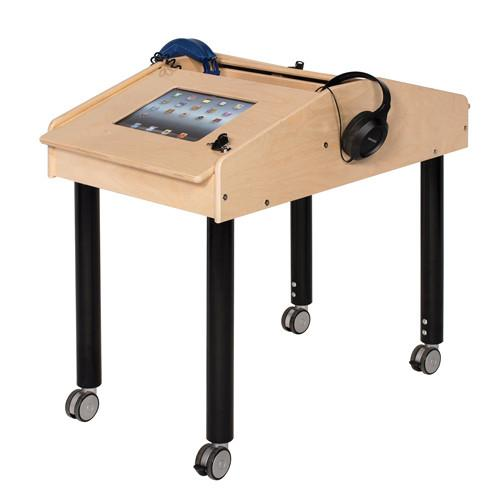 Face to Face 2-Station Tablet Table with Adjustable Legs - louisekool