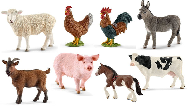 Farm Animals - Set of 8 - louisekool