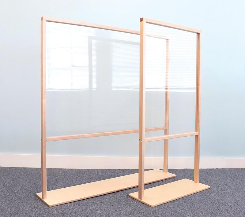Floor Standing Acrylic Partition - louisekool