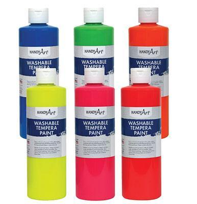 Fluorescent Tempera Paint - louisekool