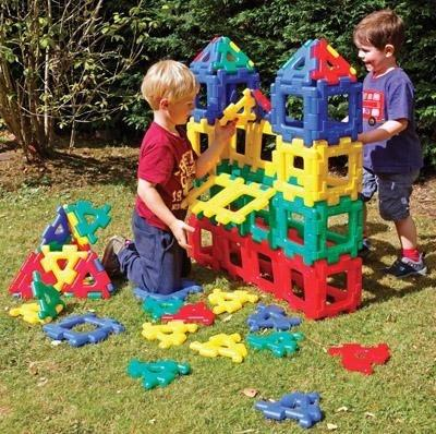Giant Polydron Class Set - 80 Pieces - louisekool