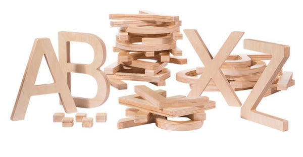 Giant Wooden Letters Uppercase - louisekool