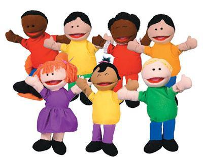 Kool Kids Puppets - Set of 7 - louisekool