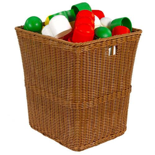 Large Plastic Wicker Basket - louisekool