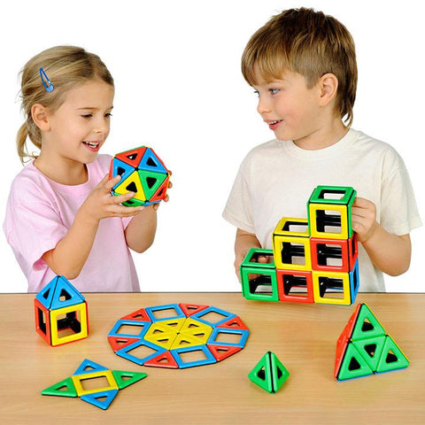Magnetic Polydron Class Set - 96 Pieces - louisekool