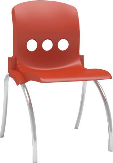 "Max Chair Red - 43cm (17"") - louisekool"