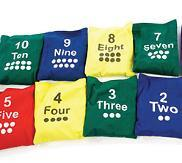 Numbered Bean Bag - Set of 10 - louisekool