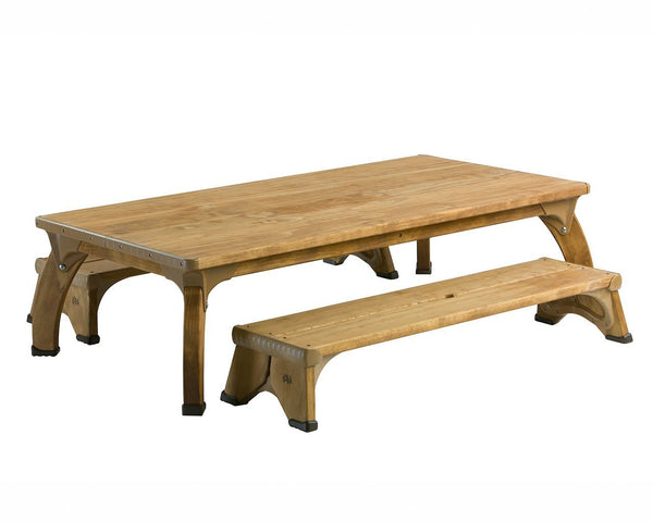 Outlast Project Table & Benches Set by Community Playthings - louisekool