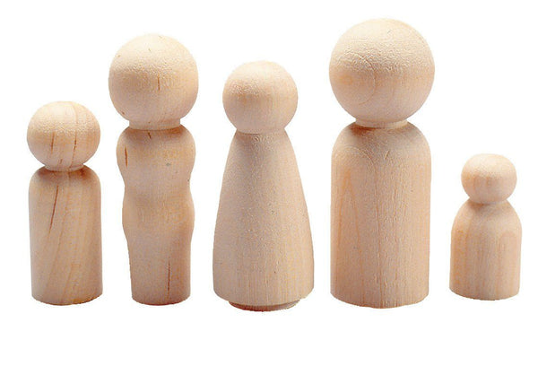 People Wood Shapes Set of 40 - louisekool