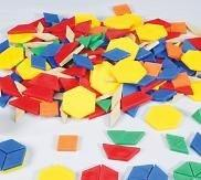 Plastic Pattern Blocks - 250 Pieces - louisekool