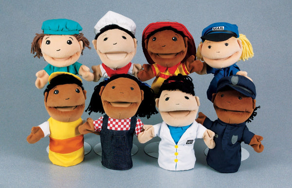 Profession Puppets - Set of 8 - louisekool