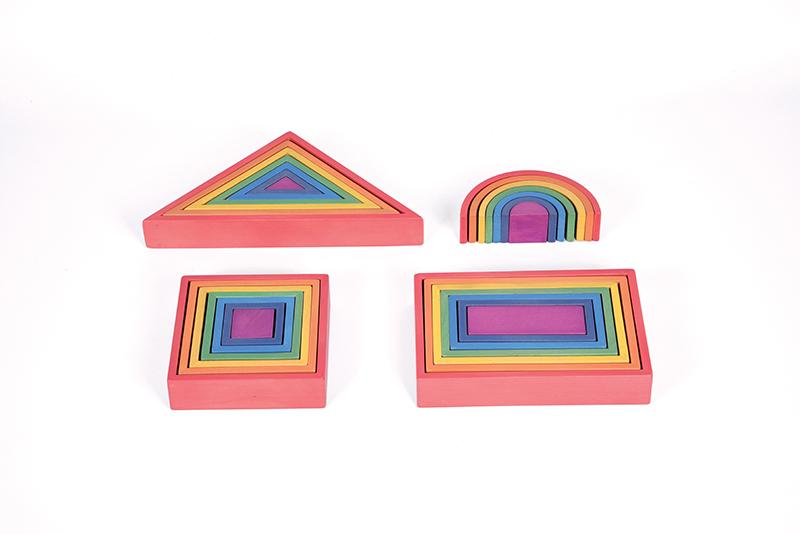 Rainbow Architect Set - Set of 28 - louisekool
