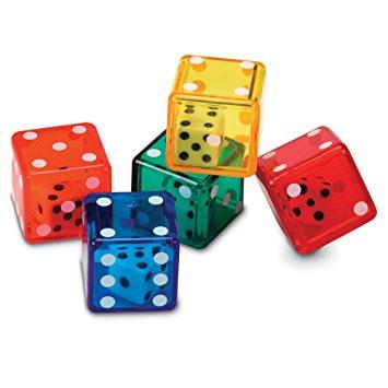 Regular Dice in Dice - Set of 72 - louisekool