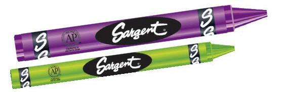 Sargent Art Crayons : Large (400 pcs) - louisekool