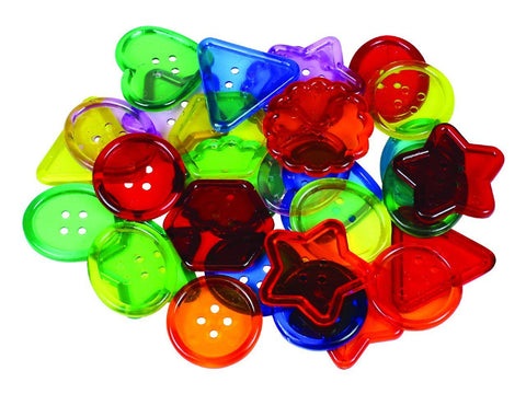 See-Thru Big Buttons - 30 Pieces - louisekool