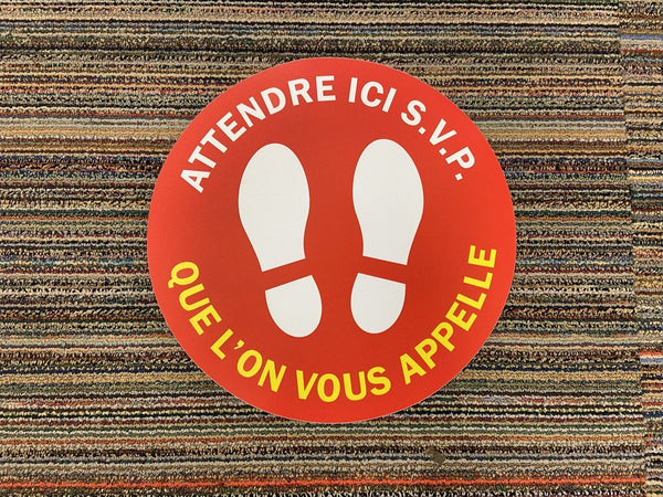 Social Distancing Floor Sticker Français - louisekool