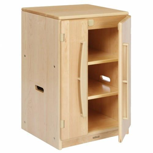 Solid Maple Toddler Refrigerator Unit - louisekool