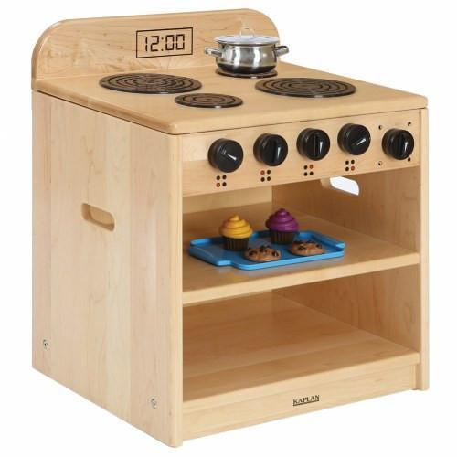 Solid Maple Toddler Stove - louisekool