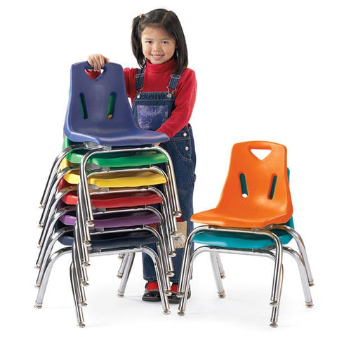 "Stackable Chrome Chairs - 25cm (10"") - louisekool"