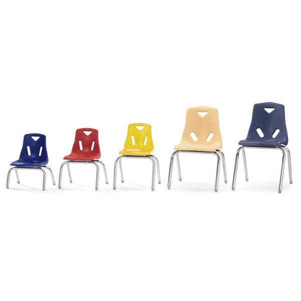 "Stackable Chrome Chairs - 35cm (14"") - louisekool"