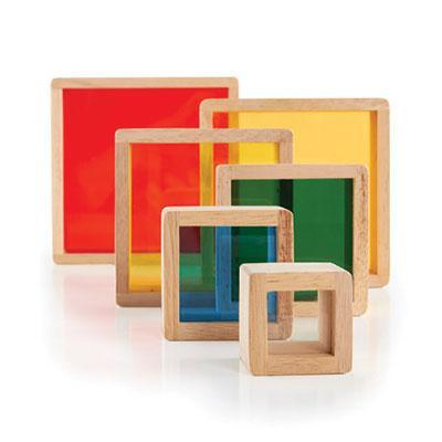 Stacking Rainbow Pyramid - Set of 6 - louisekool