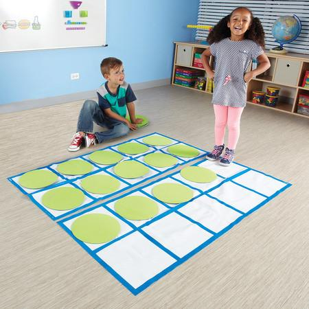 Ten-Frame Floor Mat Set Activity Set - louisekool