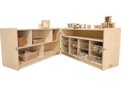 Toddler Shelf and Bin Hinged Storage - louisekool