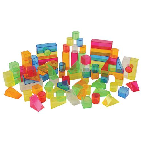 Transparent Light and Colour Blocks - Set of 108 - louisekool