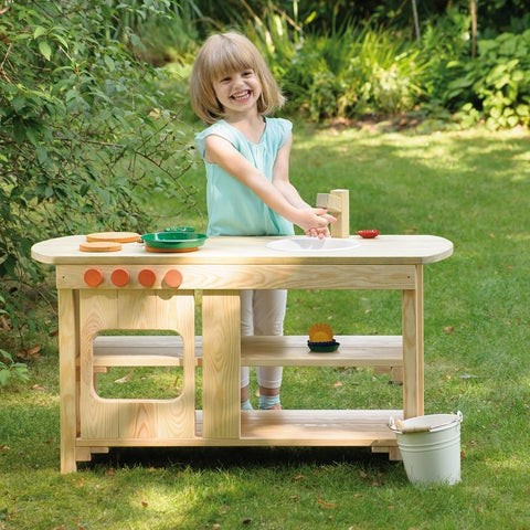 Wood Outdoor Play Kitchen - louisekool