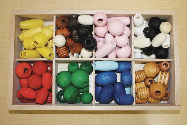 Wooden Bead Assortment - 100 Pieces - louisekool