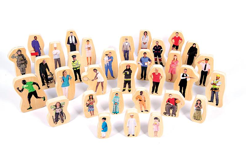 Wooden Community People Blocks – Set of 32 - louisekool
