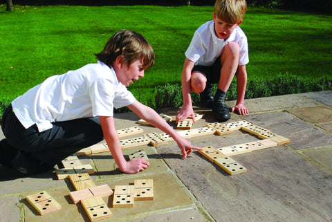 Wooden Dominoes - 28 Pieces Toys Louise Kool for child care day care primary classrooms
