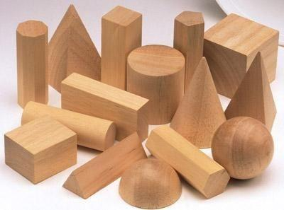 Wooden Geometric Solids - Set of 15 - louisekool