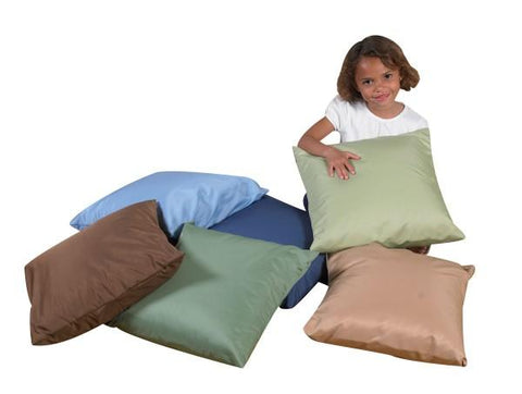 Woodland Square Floor Pillows - Set of 6 - louisekool