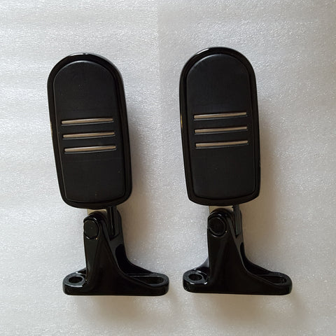 Passenger Peg Assemblies - Gloss Black (2016 & Newer)