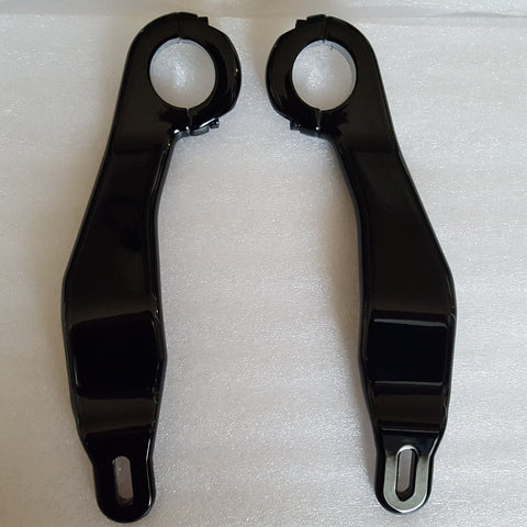 Road Glide Fairing Supports Gloss Black (2015 and Newer)
